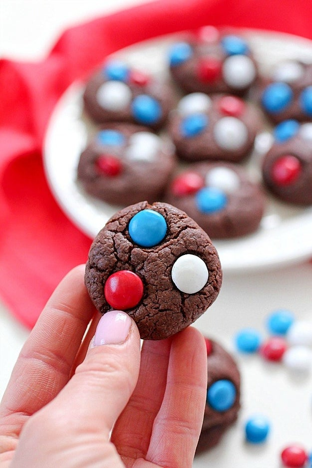 These delectable red, white, and blue cookies: