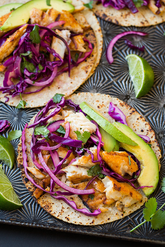 23 classic summer recipes that everyone should master for Grilled fish taco recipe with cabbage slaw