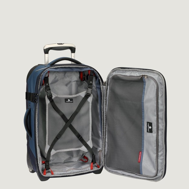 Eagle Creek's Tarmac Carry-On ($299) is super durable and full of conveniently located pockets designed for frequent fliers.