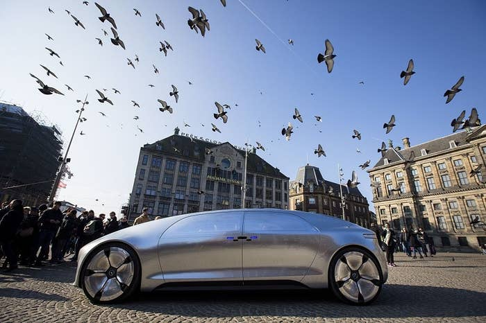 The Mercedes Benz F 015, which is self-driving