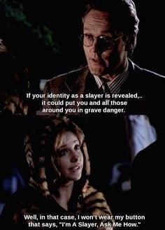 Si vous étiez enfant ou ado à l'époque de La Trilogie du samedi, vous associez peut-être Buffy contre les vampires à une série sympa pour ados. Et c'est le cas! Mais c'est aussi une série extrêmement intelligente, avec des dialogues hilarants (en anglais, en tout cas) qu'on n'était vraiment (vraiment) pas en mesure de comprendre à 10 ou 11 ans. Revoir la série à l'âge adulte permet d'apprécier tout le génie des scénarios... et de se demander comment on a pu laisser toutes ces blagues de cul nous passer au dessus de la tête.