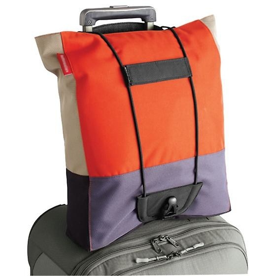 The Bag Bungee ($15) helps you carry two bags with one hand.