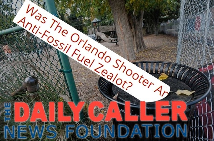 "After CBS discovered footage from a 2012 documentary of Orlando, FL shooter Omar Mateen criticizing workers who were cleaning up the BP oil spill, the Daily Caller ran an article with the headline, ""Was The Orlando Shooter An Anti-Fossil Fuel Zealot?"" The Daily Caller is just asking, people."