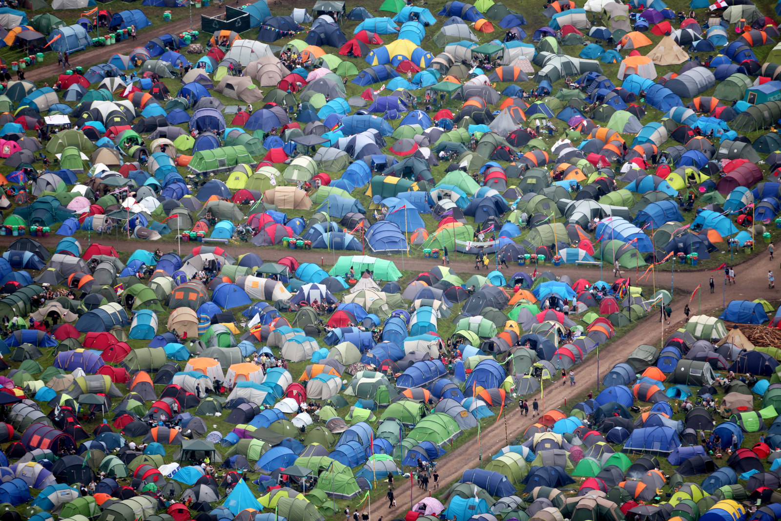 """Despite the weather and traffic, the festival is still growing, with organisers announcing on Twitter on Thursday: """"At 9am, there were 1,000 more people on site than same time in 2015."""""""