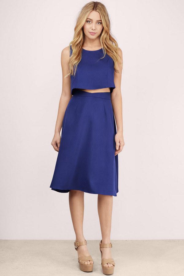 Summer dress knee length 4 buzz