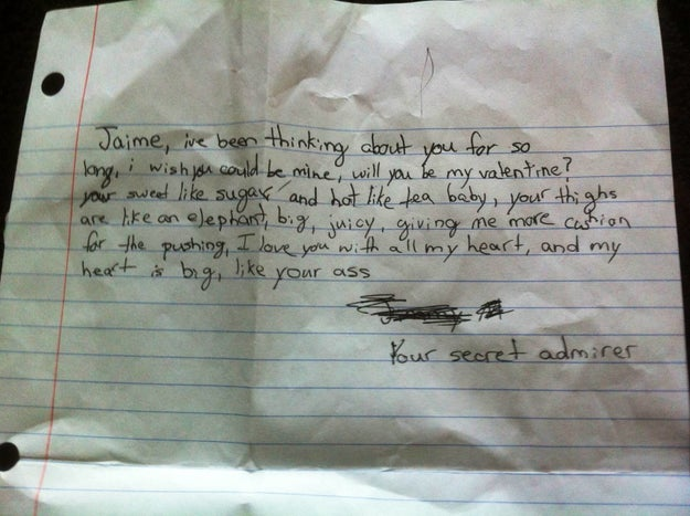 11 Of The Funniest Secret Admirer Notes Kids Have Given