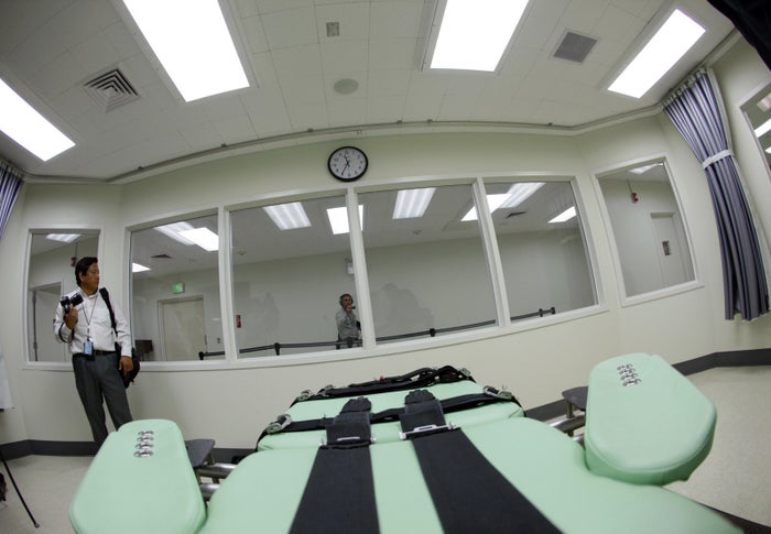 The death chamber at San Quentin State Prison in Calif.