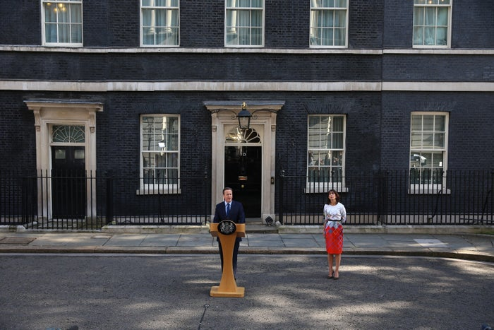 David Cameron speaks after Britain's vote to leave the European Union, outside No. 10 Downing Street on Friday.