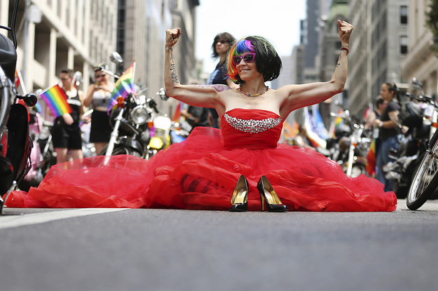 New York's Pride Parade Begins After Moment Of Silence For Orlando Victims