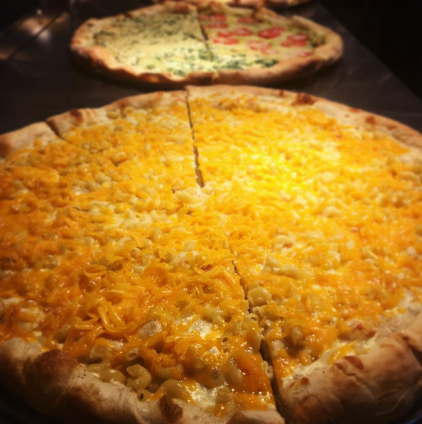 Mac and Cheese Pizza at Ian's Pizza