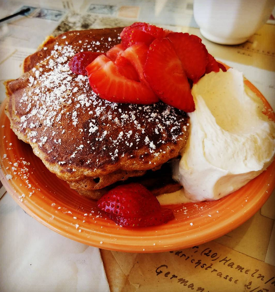 Sweet Potato Oatmeal Pancakes at Short Stack Eatery