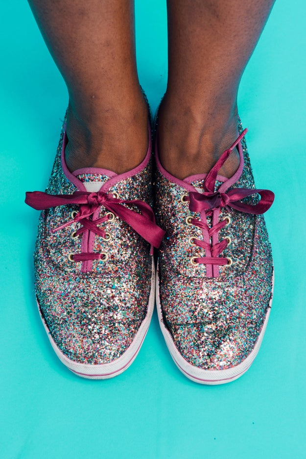 These super glittery kicks: