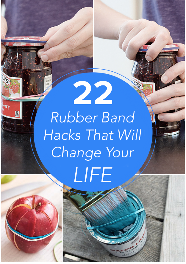 22 Ways To Fix Your Life Just Using Rubber Bands
