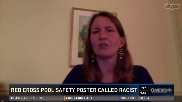 Margaret Sawyer, l'une des critiques les plus véhémentes de l'affiche et ancienne administratrice du Projet d'organisation de la communauté mixtèque/indigène, a vu l'affiche pour la première fois alors qu'elle voyageait avec sa famille dans le Colorado, a-t-elle déclaré à KUSA, une chaîne de télévision locale.