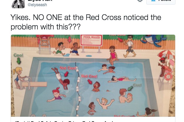 People Are Saying This American Red Cross Pool Safety Poster Is Racist