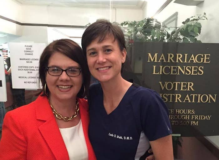 Joce Pritchett and Carla Webb, who live in Mississippi, married in Maine in 2013.