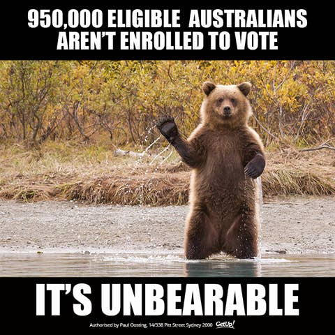 In May the ABC reported that more than 950,000 Australians were yet to enrol to vote and almost half of all 18-year-olds and nearly 350,000 young people weren't enrolled at all.Australia's young people are in a position to heavily influence the results in marginal seats across the country, and groups like GetUp! have been campaigning heavily to encourage them to get in on the action.