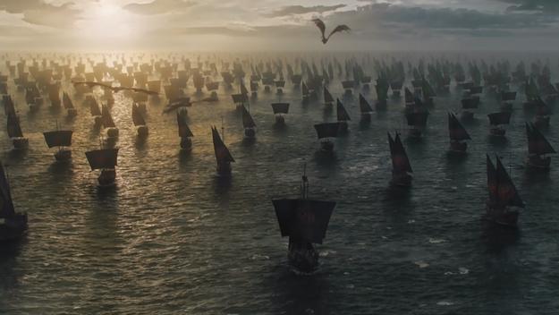 Bueno. Ciertamente fue algo increíble. Finalmente Dany zarpó hacia al oeste con toda su coalición...