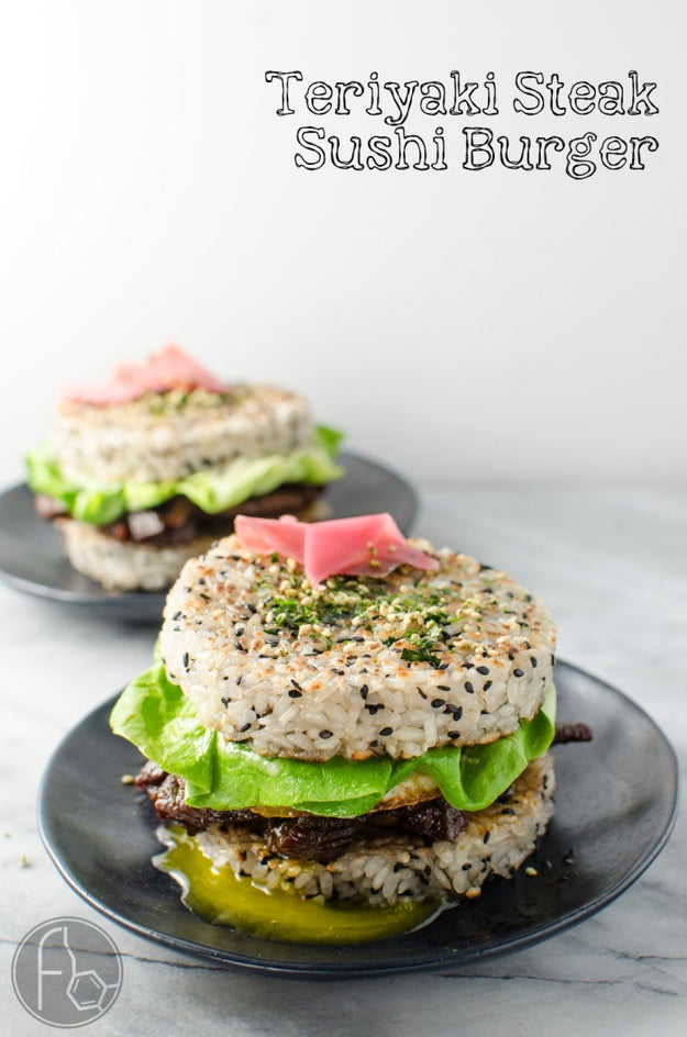 Teriyaki Steak Sushi Burger