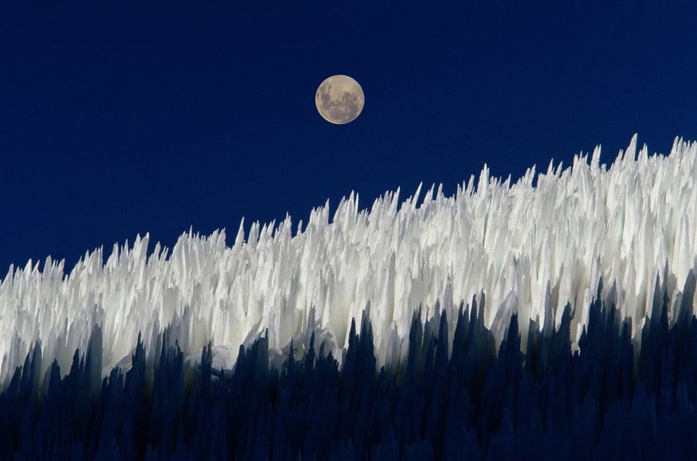 La nieve penitente de Chile.