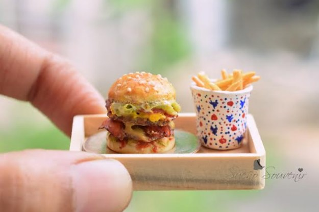 how to make mini food from clay