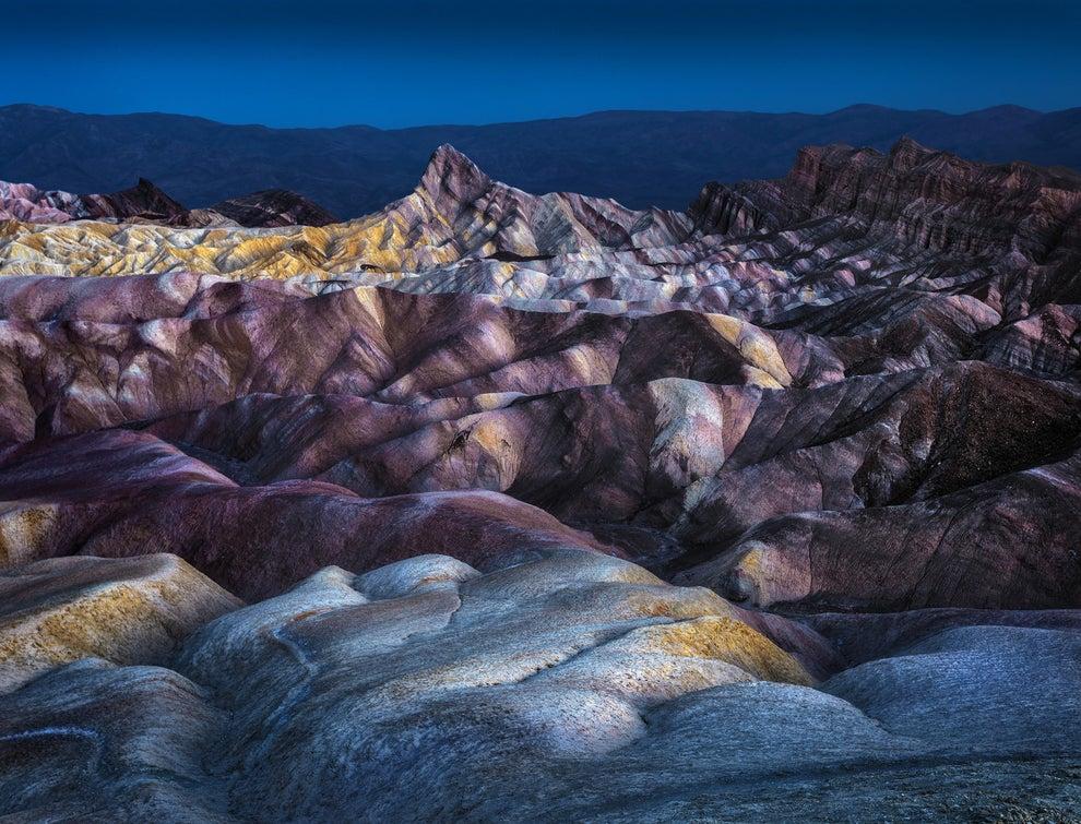 La cordillera multicolor del Zabriskie, en Estados Unidos.