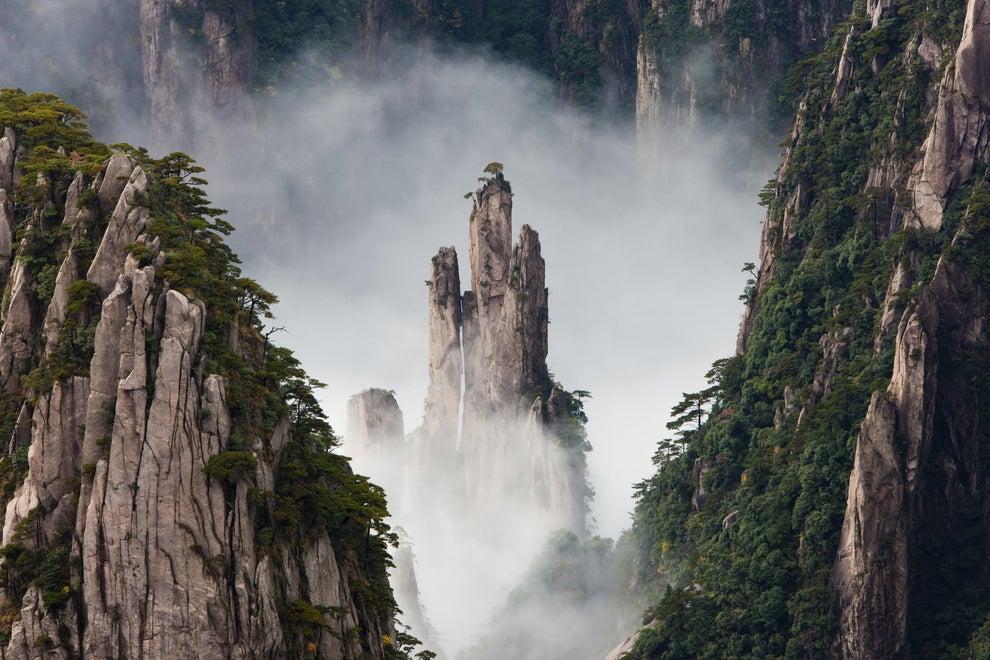 Las montañas voladoras de Huang Shan, China.