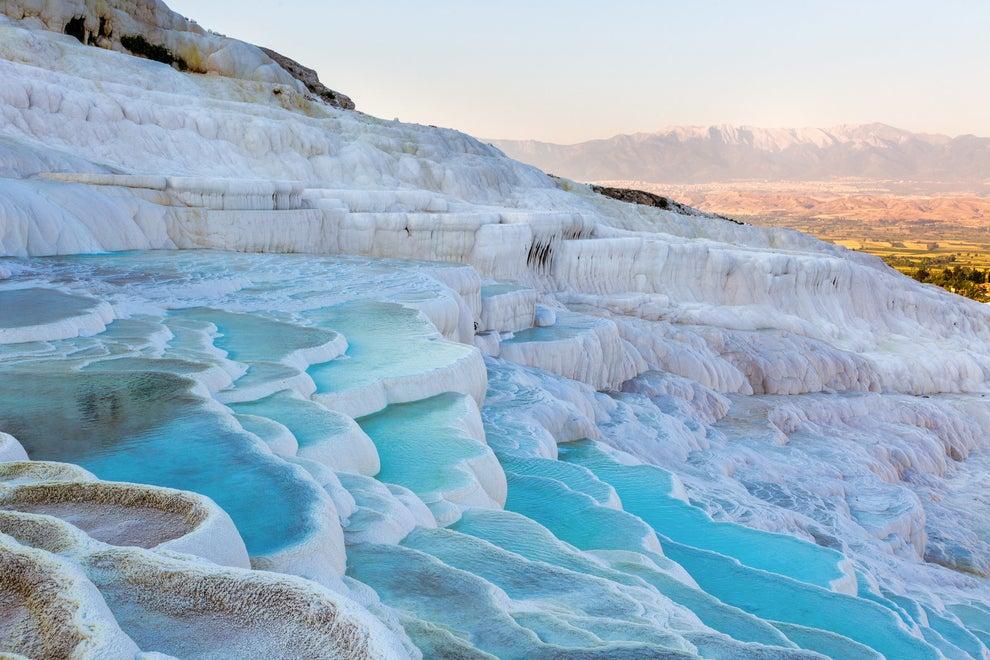 Los estanques encantados de Pamukkale, Turquía.