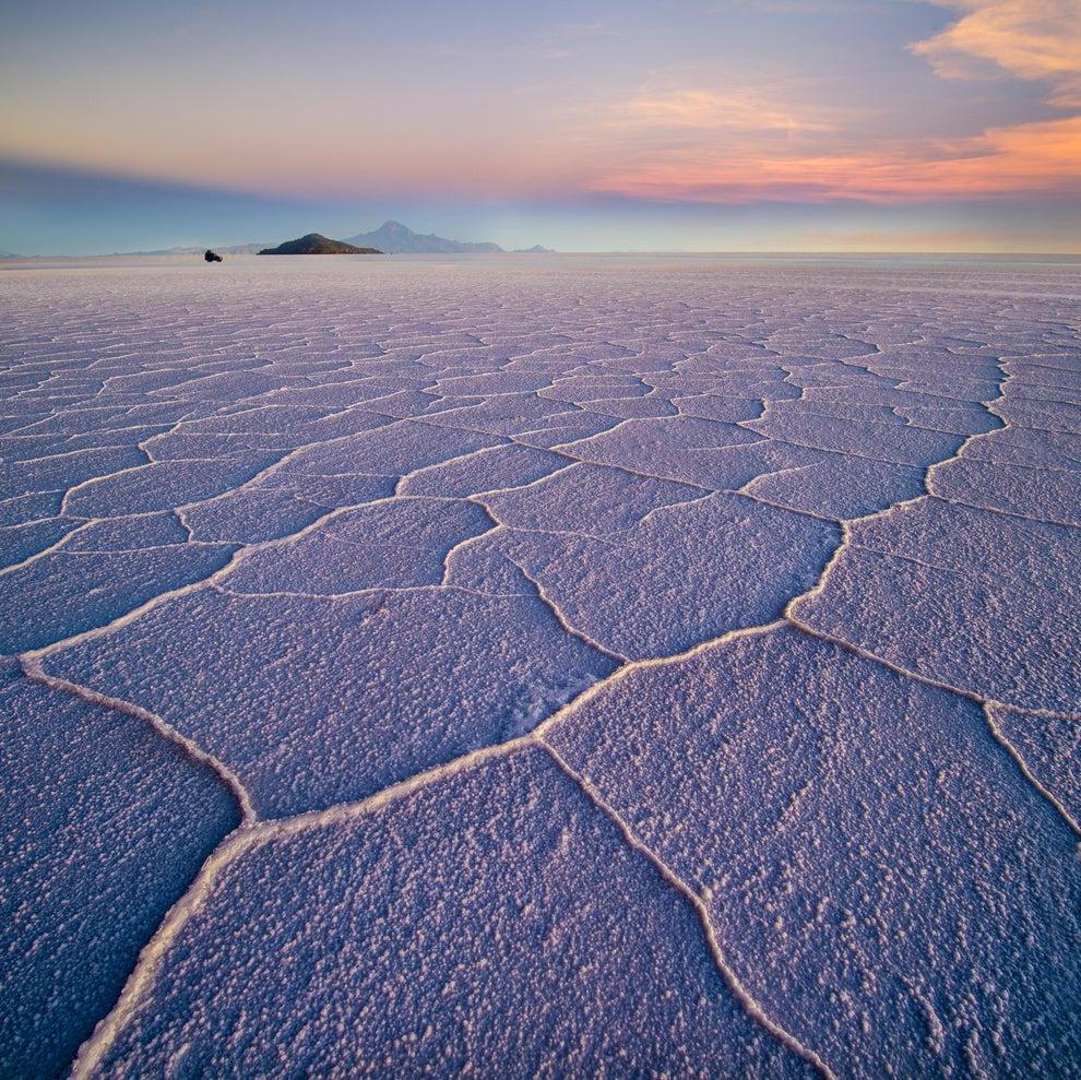 Un desierto de sal en el Salar de Uyuni, en Bolivia.