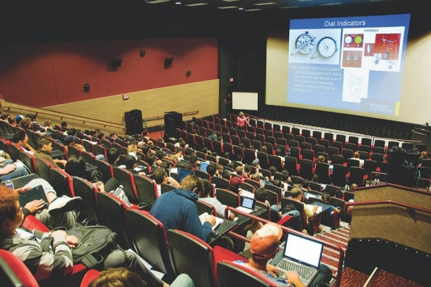 Lectures in a Movie Theatre!