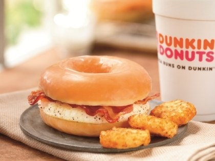 How about when Dunkin' Donuts gave us the glorious glazed donut breakfast sandwich?