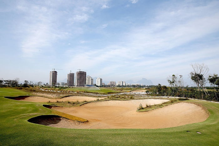 General view of Hole 2 at the Olympic Golf Course in Rio de Janeiro