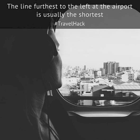 """""""A fila mais à esquerda nos aeroportos geralmente é a mais curta"""""""