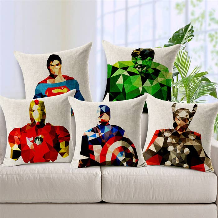 For cuddling up after a day of crime-fighting...or, just re-watching The Avengers for the millionth time. Get them here.