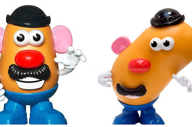 we now have a misshapen mr potato head to encourage kids to love