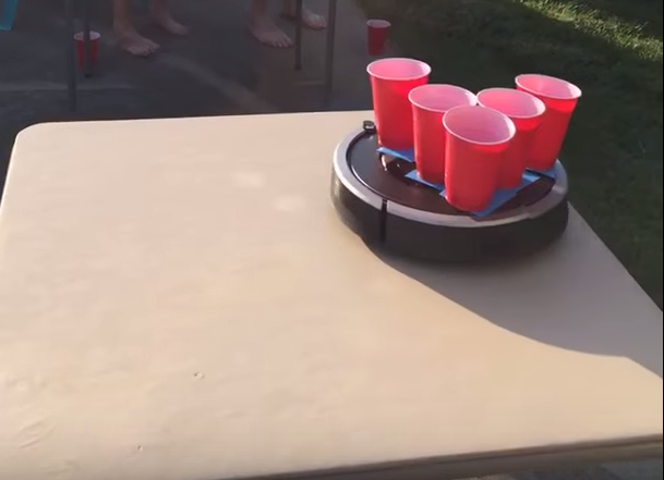 """""""I figured it would be best to use two separate card tables so each Roomba had its own area to maneuver,"""" Noll's brother, Tyler Fangman, told BuzzFeed."""