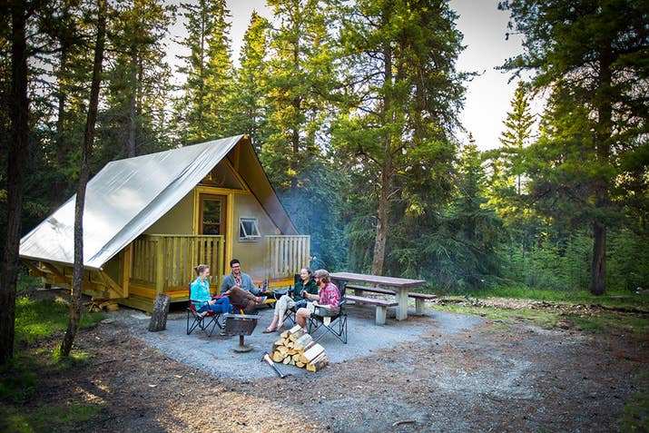 Stay in oTENTik tents for a unique blend of homey comfort and a taste of outdoor adventure. A cross between a tent and a rustic cabin, this type of accommodation is the perfect way for families, friends, and couples of all ages to discover the joys of camping without all the muss and fuss.