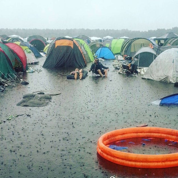 Camping at festivals in real life:
