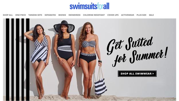 La marque de maillots de bain «Swimsuitsforall» est une enseigne destinée à toutes les morphologies.