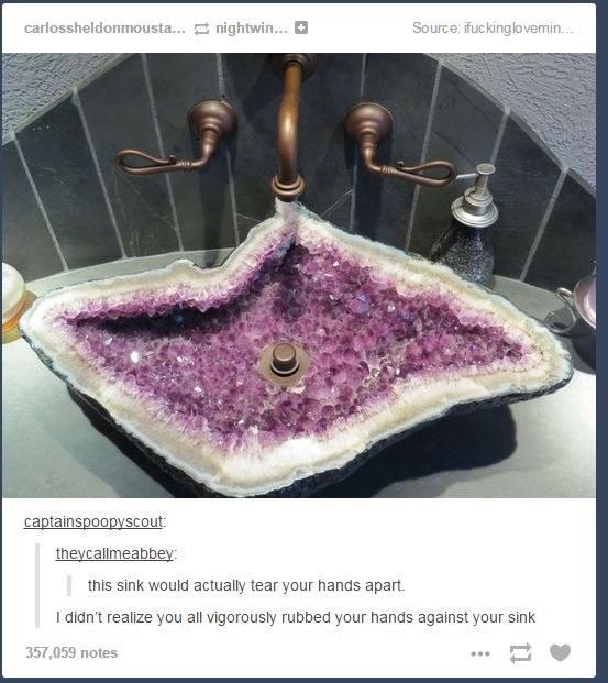 The sink tribulation.