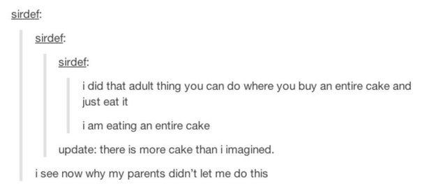 The cake experience.