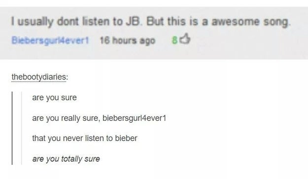 The Bieber conspiracy.