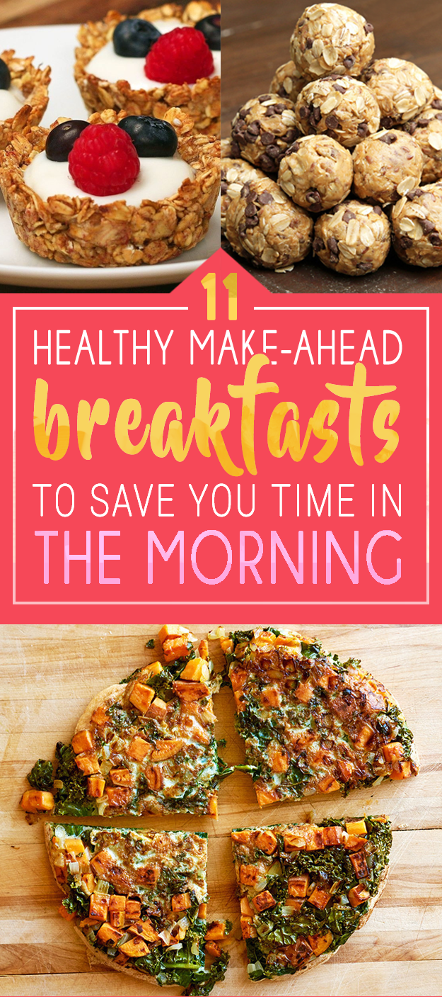 So, here are some easy, tasty recipes that you can make in advance, so that no matter what happens, you'll still have a yummy start to your day.