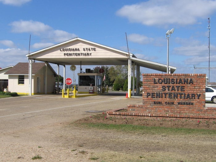 The entrance to Louisiana state penitentiary Angola Prison.