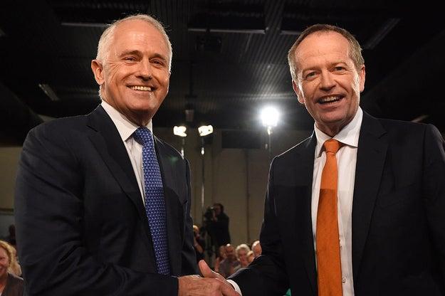 Prime minister Malcolm Turnbull and leader of the opposition, Bill Shorten.