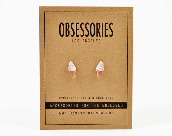 Buy these adorable ice cream earrings from Obsessories and wear them all month long.