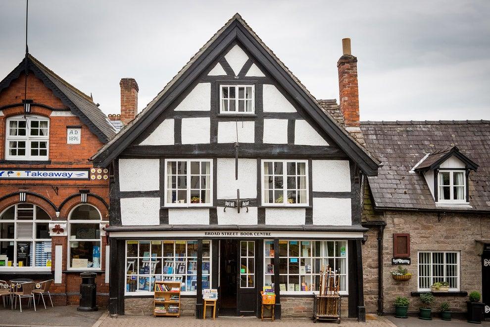 This charming Tudor shop.