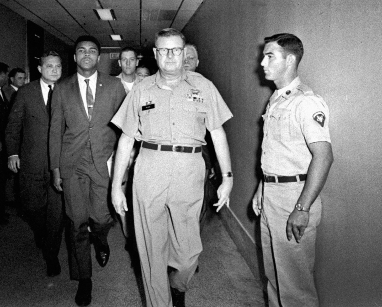 a review of the thesis titled muhammad ali refuses army induction Muhammad ali, center, leaving the armed forces induction center in houston, with his entourage, after refusing to be drafted credit associated press on june 22, 1967, i picked up a copy of the pacific stars and stripes — the official military newspaper — in saigon to find, there on page 1, a.