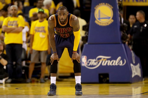Sunday night's 110-77 loss to the Warriors meant another frustrating night for LeBron James and the Cavaliers.
