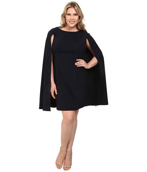 """Rating: 5/5 Price: $160-$180 Sizes: 6-10 and 18-24""""The material is thicker and of a better quality than I would have guessed, and the cape lays beautifully over the shoulders. I received countless compliments on it, and the dress held up through the ceremony and reception."""" —A. W."""